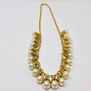 🆕 LENORA DAME long gold tone, faux pearls nklce
